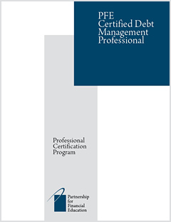 PFE Certified Debt Management Professional (CDMP) program cover